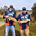 PointClickFish.com Pro Staff Team The Redfish Guys - Dwayne Smith and Lee Padrick at the Riley Rods Redfish Shootout Series weigh in.