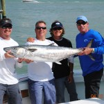 Captain Ed Walker and Team Long Gone won leg 1 of the Wild West yesterday with a 49.74lb kingfish! Photo Credit Wild West Kingfish Series