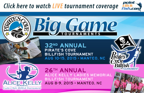 August 10th – 14th Watch LIVE Coverage from the Pirates Cove Billfish Tournament – OBX, NC